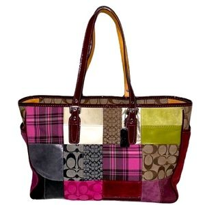 💖HP Coach LE Patchwork Holiday East West Tote Bag